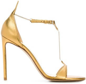 Francesco Russo chain stiletto heels