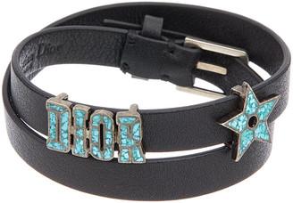 Christian Dior Star Double Wrap Leather Bracelet