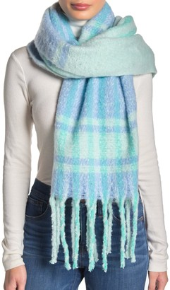 Free People Gemini Plaid Blanket Scarf