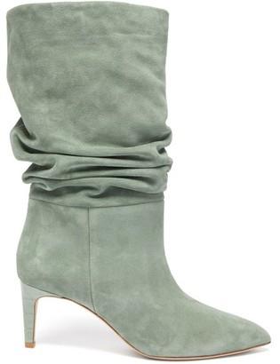 Paris Texas Slouchy Suede Boots - Khaki