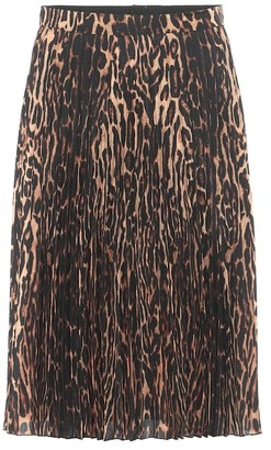 Burberry Rersby leopard-print midi skirt