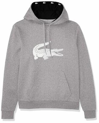 Lacoste Men's Sport Big Croc Fleece Hoodie Sweatshirt