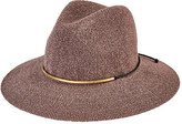 San Diego Hat Company Women's Knit Fedora with Braided Faux Suede CTH8077