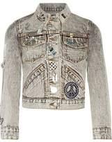 Marc Jacobs Embellished Appliquéd Denim Jacket