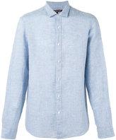 Michael Kors curved hem shirt - men - Linen/Flax - M
