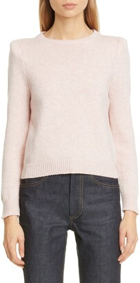 Marc Jacobs Padded Shoulder Cashmere Sweater