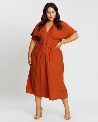 Teagan Gathered Midi Dress