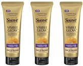 Suave Lot of 3 Professionals Visible Glow Self-Tanning Body Lotion, Fair to Medium 7.5 oz