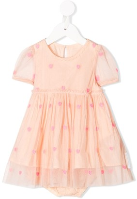 Stella McCartney Hearts embroidery tulle dress