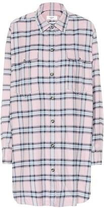 Etoile Isabel Marant Iceo checked cotton shirt dress