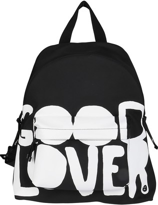Valentino Black And White Lovers Language Backpack