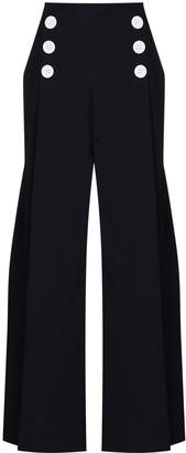 Rosie Assoulin High-Waist Sailor Trousers