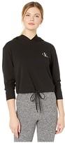 Calvin Klein Underwear One Basic Lounge French Terry Long Sleeve Hoodie (Black) Women's Sweater