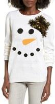 Ten Sixty Sherman Women's Snowman Embellished Sweater