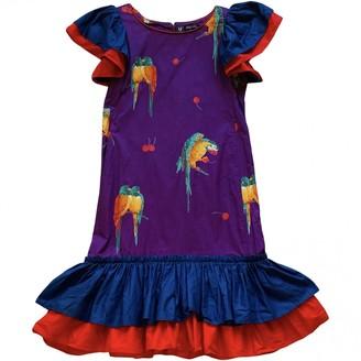Ungaro Parallele Purple Cotton Dress for Women Vintage