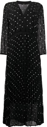 Seventy Semi-Sheer Star Print Midi Dress