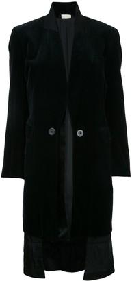 Comme Des Garçons Pre Owned Velvet Reversible Coat