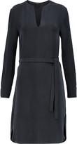 Joseph Peggy belted washed-silk midi dress