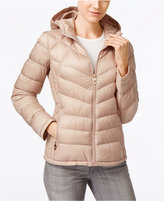 MICHAEL Michael Kors Chevron Hooded Packable Down Puffer Coat, Only at Macy's