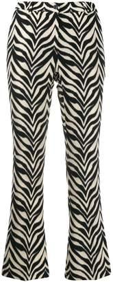 Pt01 zebra print cropped trousers