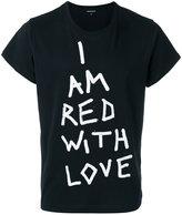 Ann Demeulemeester printed text T-shirt - men - Cotton - S