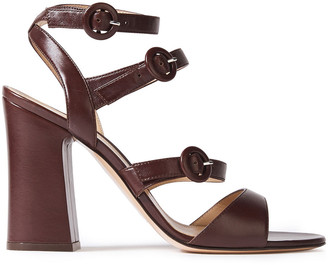 Gianvito Rossi Mali 100 Buckled Leather Sandals