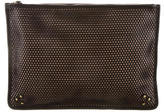 Jerome Dreyfuss Perforated Leather Clutch w/ Tags