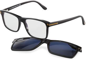 Tom Ford Men's FT5682-BM54 Blue Light Blocking Square Optical Glasses