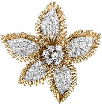 David Webb Heritage  18K & Platinum 8.00 Ct. Tw. Diamond Brooch