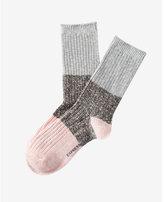 Express marled color blocked boot socks