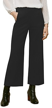 Whistles Flat-Front Ponte Trousers