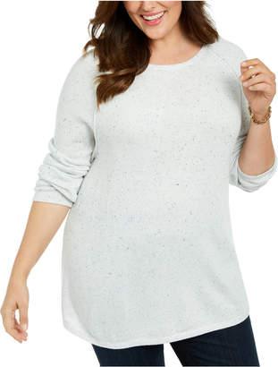 Karen Scott Plus Size Confetti Sweater