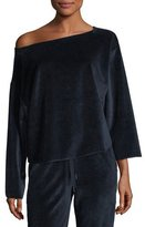 KENDALL + KYLIE Off-the-Shoulder Velvet Pullover Sweater