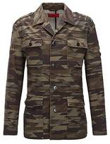 HUGO BOSS Regular-fit military jacket in stretch cotton