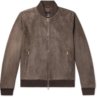 Dunhill Suede Bomber Jacket