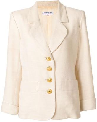 Saint Laurent Pre-Owned contrast-button blazer