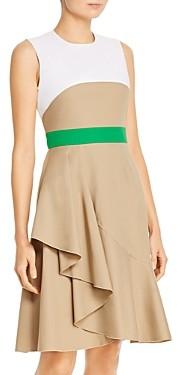 Paule Ka Draped-Skirt A-Line Dress