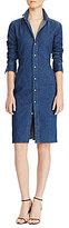 Polo Ralph Lauren Point Collar Denim Sheath Shirtdress