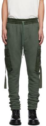 Amiri Green Cargo Lounge Pants