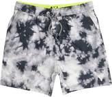 River Island Boys grey tie dye swim shorts