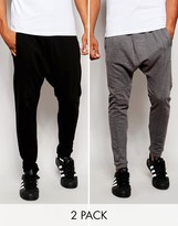 Asos 2 Pack Drop Crotch Joggers