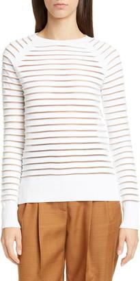 PARTOW Margot Sheer Stripe Sweater