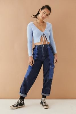 BDG Blaine Colourblock Skate Jeans - Blue 24W 30L at Urban Outfitters