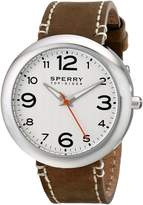 Sperry Men's 10008967 Sandbar Stainless Steel Watch with Brown Leather Band