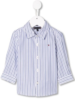 Tommy Hilfiger Junior pinstripe logo shirt