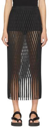Issey Miyake Black Netting Skirt