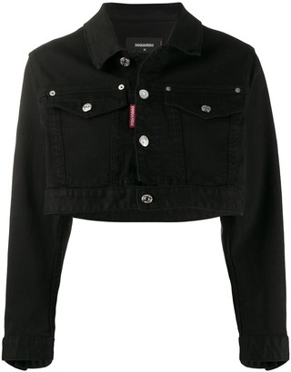 DSQUARED2 Icon cropped denim jacket