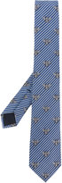 Gucci striped bee pattern tie - men - Silk/Cotton/Cupro - One Size
