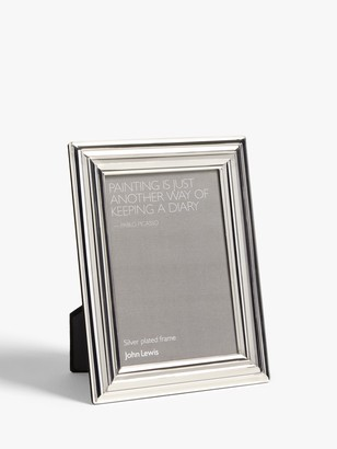 John Lewis & Partners Constance Photo Frame, Silver Plated