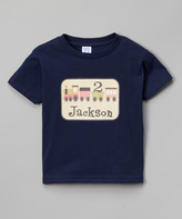 Swag Navy Train Personalized Tee - Infant